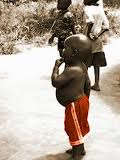 """african 'BIG BELLY"""" kid photo"""